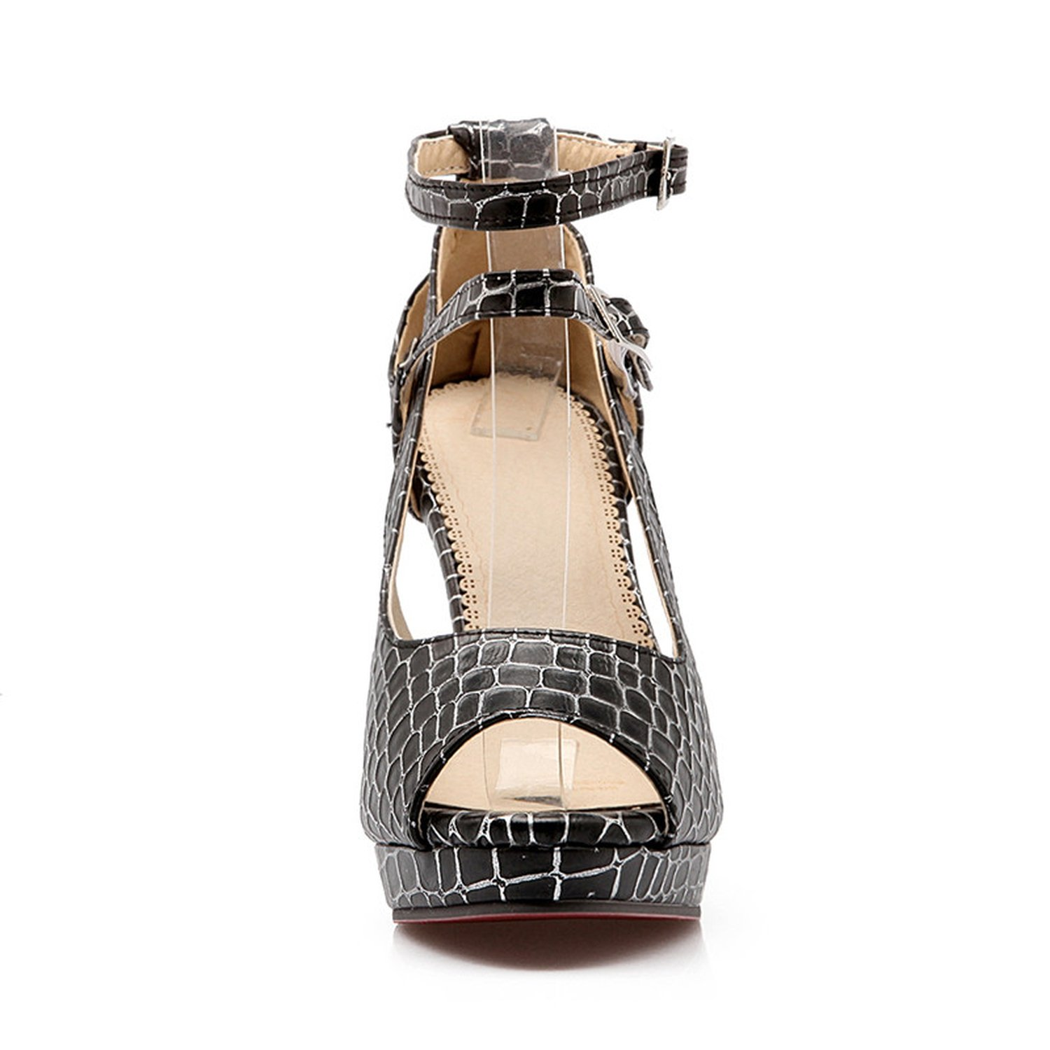 Collocation-Online Womens Gladiator Ankle Strap High Heels Open Toe Platform Party Wedding Office Sandals