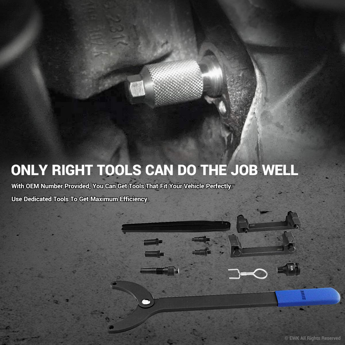 EWK Timing Tool Kit FSI Chain Engine for Audi A4 A6 A8 3.2 Liter V6 by EWK (Image #2)
