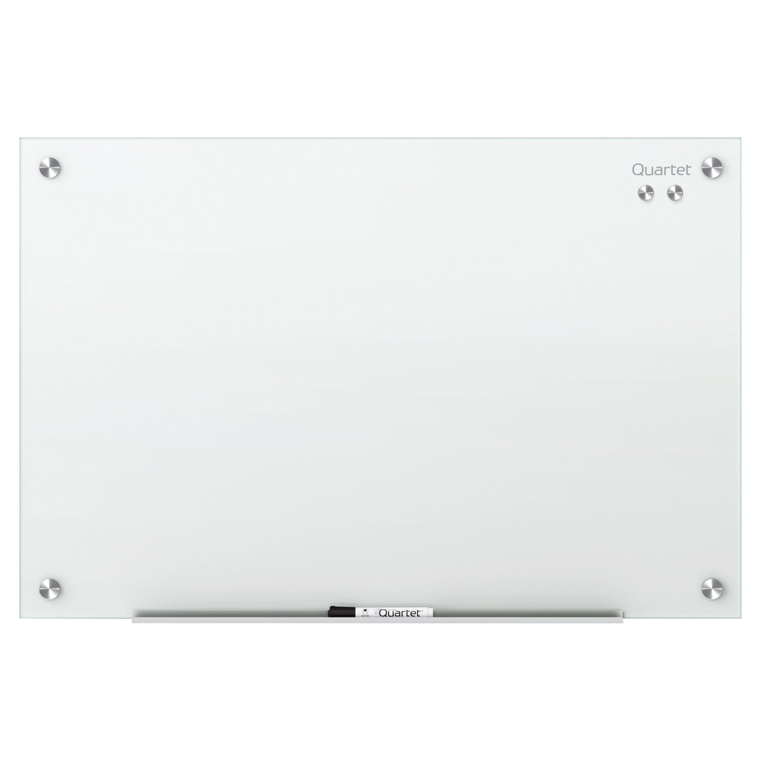 Quartet Glass Dry Erase Board, Whiteboard / White Board, Magnetic, 4' x 3', White Surface, Frameless, Infinity (G4836W) by Quartet