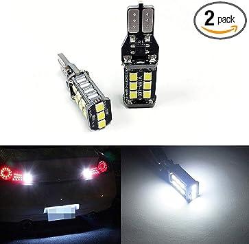 iJDMTOY Super Bright 10-SMD High Power 912 921 906 T10 LED Reverse Backup Lights Parking Lights White Color