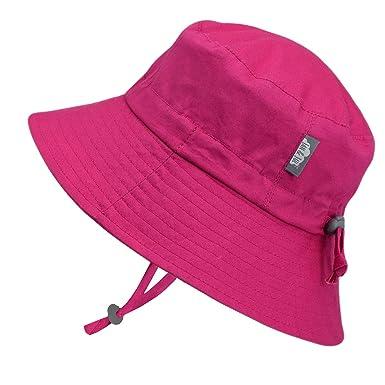JAN   JUL Newborn Infant Baby Girl Cotton Bucket Sun Hat 50 UPF Protection 4f941c47fa4