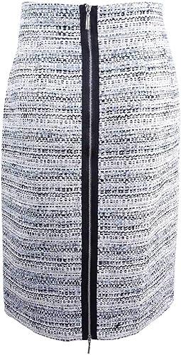 Tahari ASL Womens Gray Belted Boucle Office Straight Skirt Petites 16P BHFO 9351