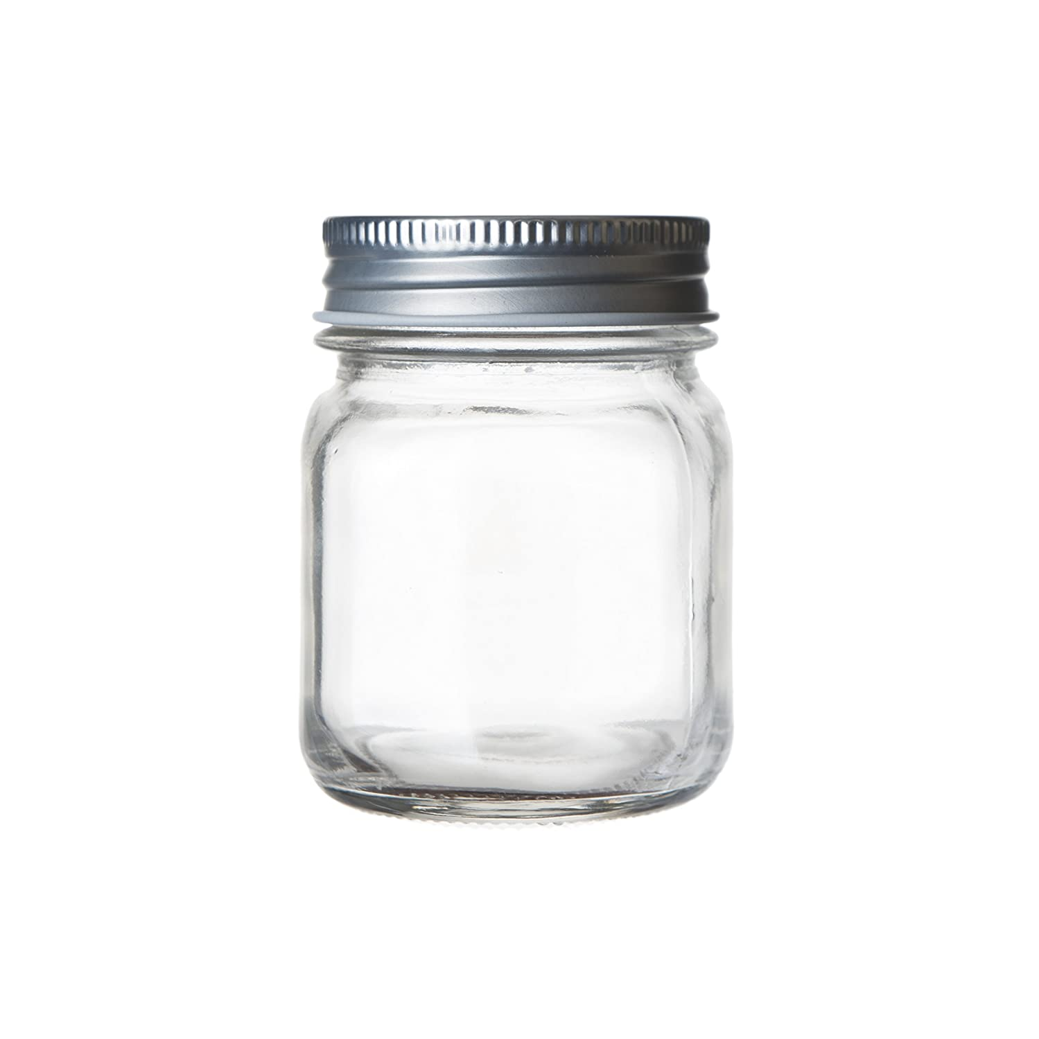 Seacoast Mason Jars, Regular Mouth With Steel Lids, (Set of 12) (5 oz) S-12
