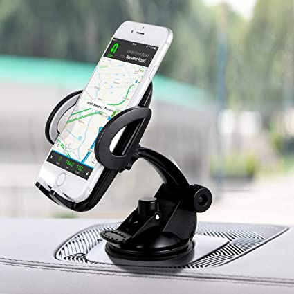 Amazon Com Amoner Car Phone Holder Upgraded Cell Phone Holder Mount For Car Windshield Dashboard With Strong Suction Cup For Iphone Xr X 8 7 Se 6s 6 5s Galaxy S10 S9 S8