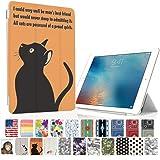 MIxUP iPad mini4 スマート カバー バック ケース 手帳型 スタンド 機能 アイパッド ミニ4 おしゃれ かわいい 猫 ねこ cat 黒猫 MXP-M4-ssANI-bkcat