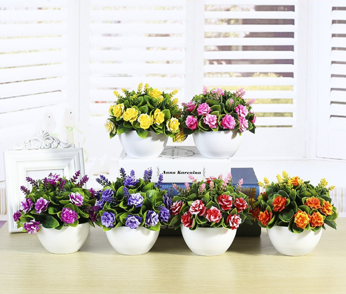 C/&L Simulation flower pots simulation plant bonsai interior decoration green plant ornaments Pink