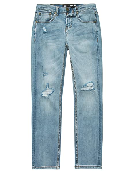 602a164a4 Image Unavailable. Image not available for. Color: RSQ London Boys Skinny  Stretch Ripped Jeans, Light ...