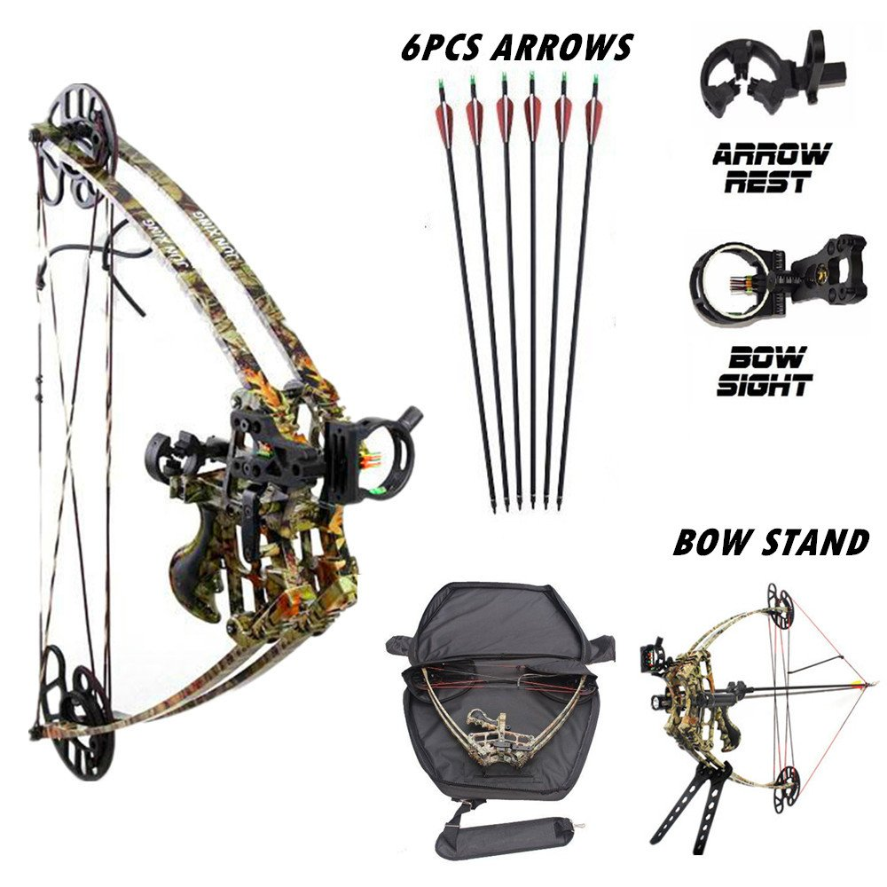 Smarty 40-50lbs Triangle Compound Bow Magnesium Alloy Camo Archery Hunting Bows Kit