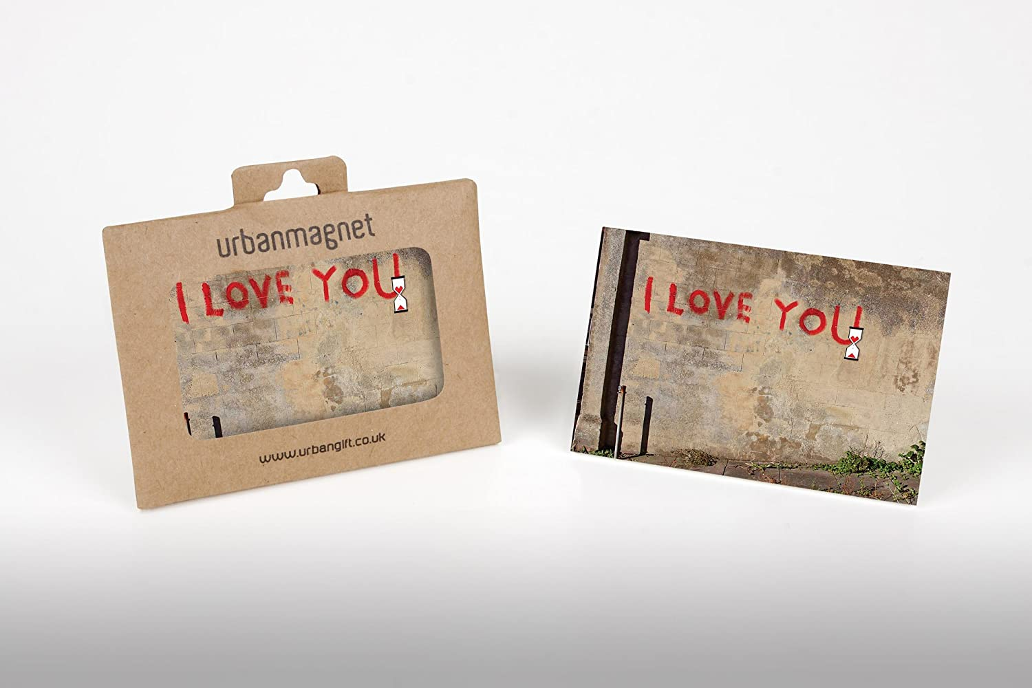 Banksy I love You Photo Fridge Magnet 6x9cm Urbangift