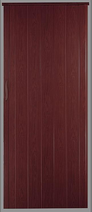 Puerta plegable corredera puerta caoba Colores Altura 202 cm ancho de montaje hasta 71 cm Doble pared Perfil nuevo: Amazon.es: Bricolaje y herramientas