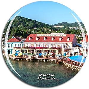 Weekino Honduras Roatan Port Fridge Magnet 3D Crystal Glass Tourist City Travel Souvenir Collection Gift Strong Refrigerator Sticker