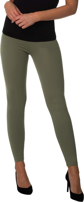 BeComfy Leggings para Mujer Opaco Polainas de Algod/ón Negro Gris Azul marino Bianco Grafito Azul Rosa Beige Violeta Verde 36,38,40,42,44,46,48,50,52,54,56