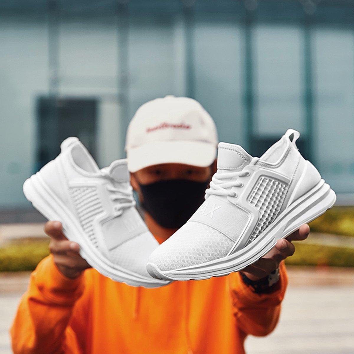 Resonda Mens Running Shoes Casual Fashion Sneakers Lightweight Athletic Walking Sport Shoes for Men B07FF3LXNW 8 B(M) US|02-white
