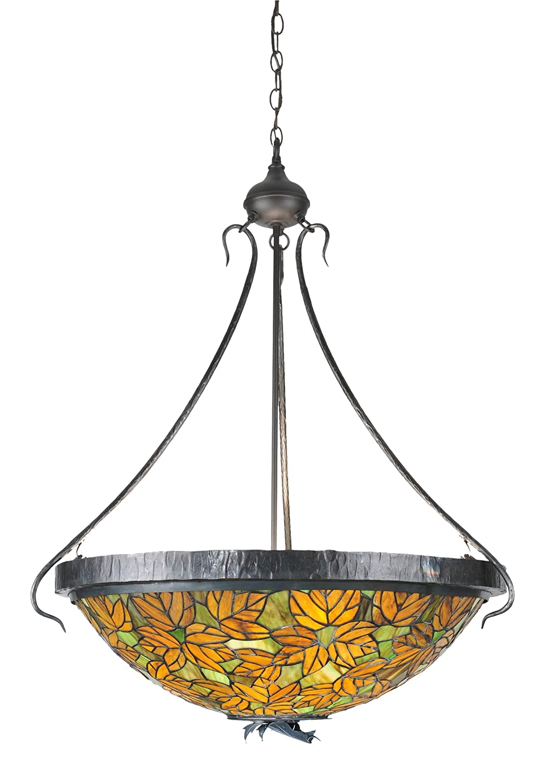 Meyda tiffany 99989 autumn leaf inverted pendant light fixture 30 width amazon com