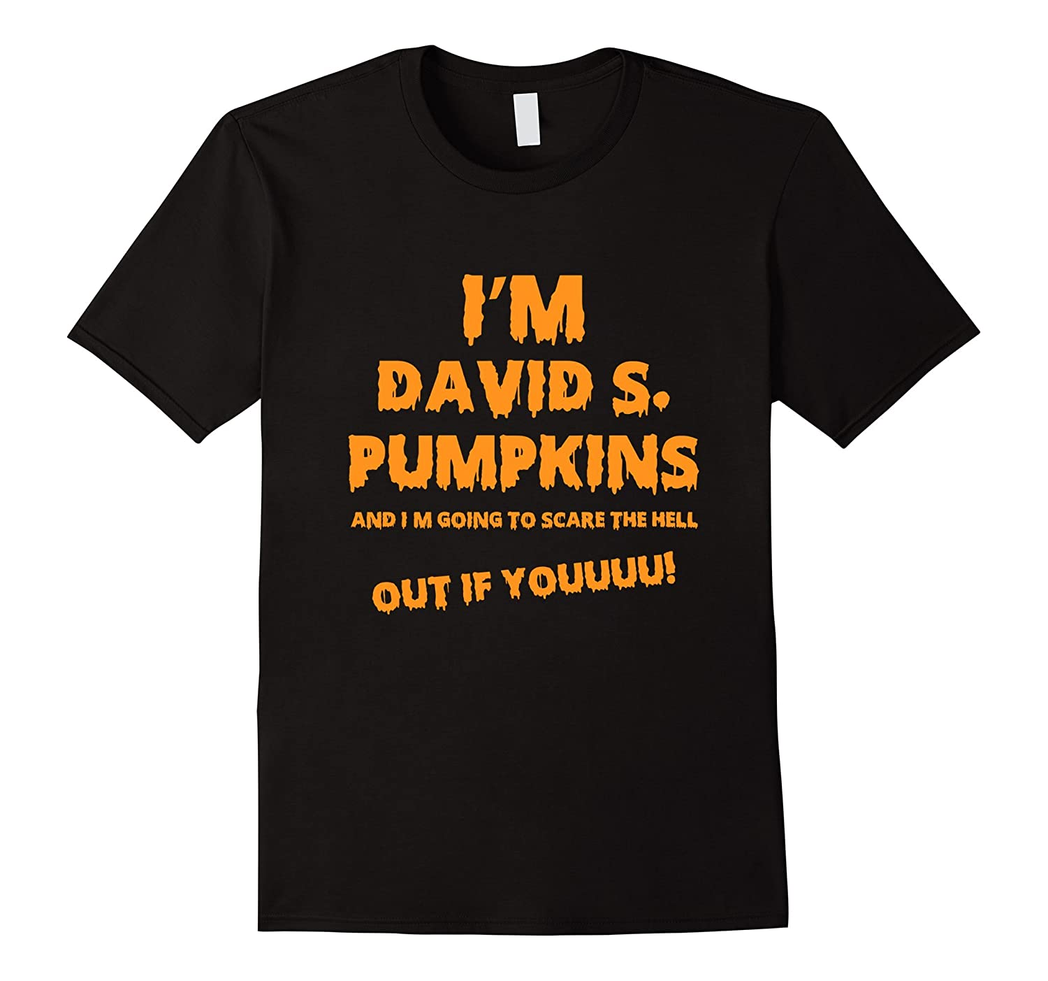 Official David Pumpkins Halloween Costume Scary Party Shirt-RT