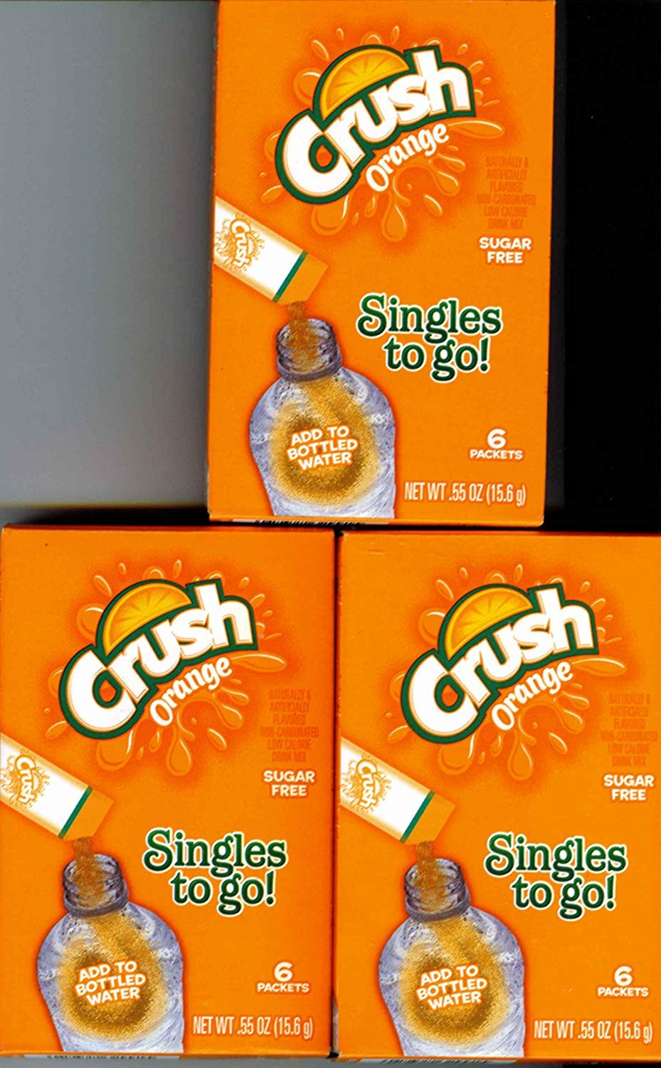 Crush Orange Singles to Go 3 Boxes of 6 Packets Each