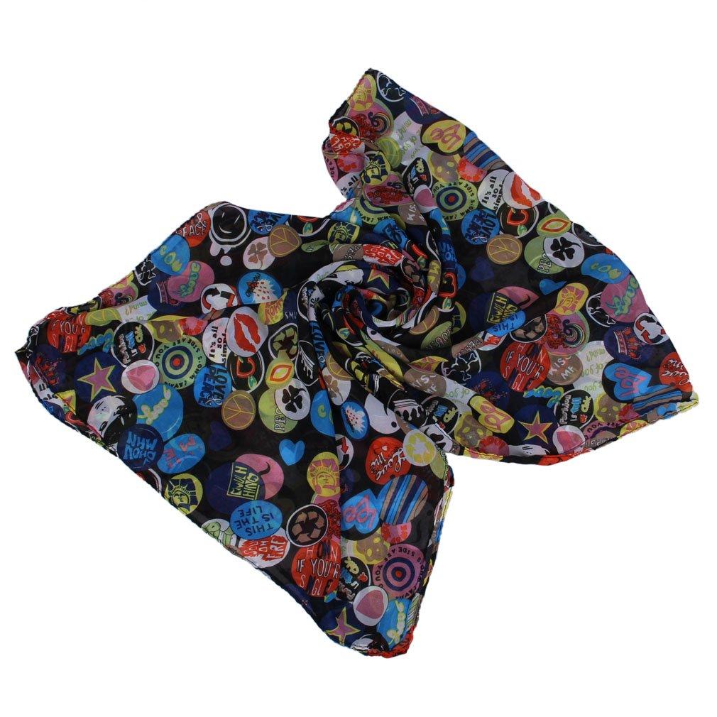 EOZY Damen Schlauchschal Schal aus Chiffon