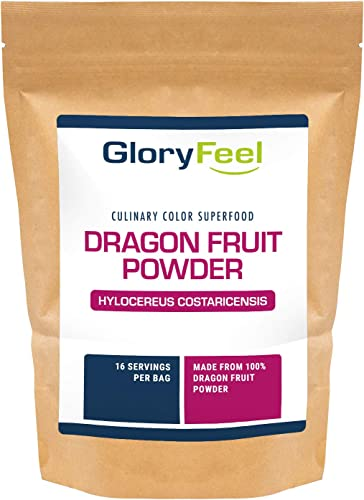 Gloryfeel Freeze Dried Red Dragon Fruit Powder 5 OZ