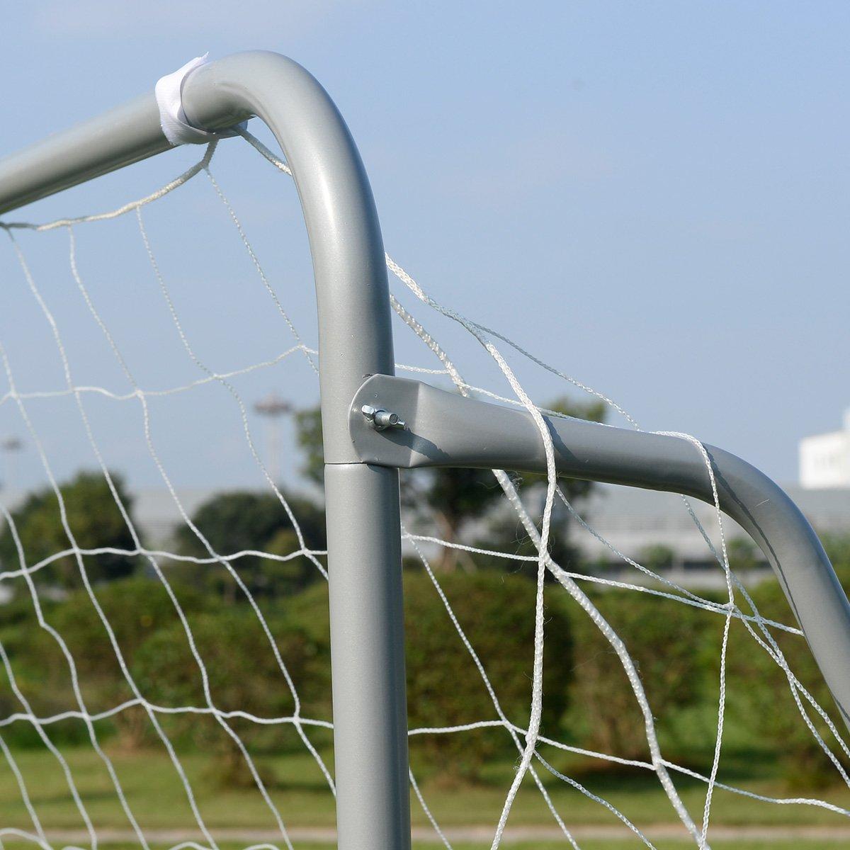 Giantex 12 x 6 Ft Soccer Goal w/ Net, Steel Frame and Velcro Straps, Indoor Outdoor Backyard Kids Children Soccer Goal by Giantex (Image #5)