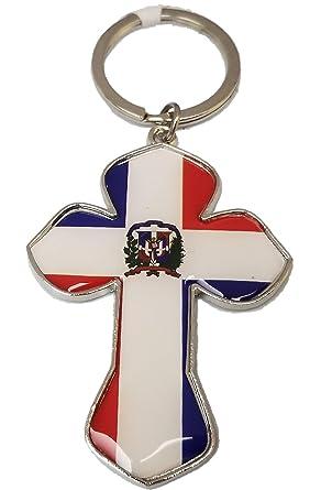 Amazon.com: Llavero de la bandera de la República Dominicana ...