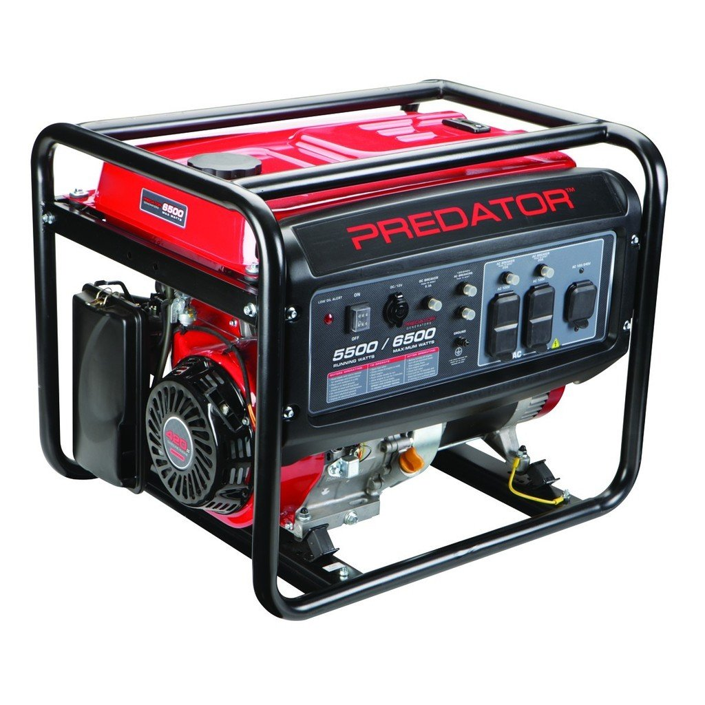 Amazon.com: Predator Portable Generator 6500 Peak/5500 Running Watts And  Generator Wheel Kit: Garden & Outdoor