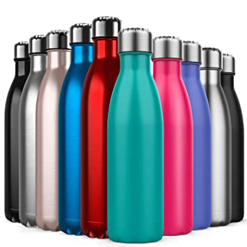 BICASLOVE Botella térmica, Botella para vacío de Acero ...