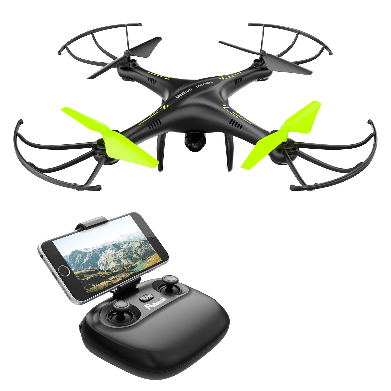 Potensic Drone Con Telecamera Hd Avin Wifi 24ghz Fpv Rc Manual Cableado Electrico Minimoto Chopper 49 Quadcopter Videocamara Rtf Suspension De Altura Modo Sin Cabeza Flip 3d
