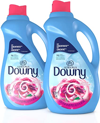 Amazon Com Downy Ultra Plus Liquid Fabric Conditioner Fabric Softener April Fresh Concentrated 51 Oz Bottles 2 Pack 152 Loads Total Health Personal Care