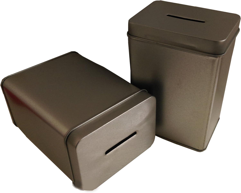 My Charity Boxes-Scatola di latta alla donazione ente pu/ò-Money-Salvadanaio a forma di maialino pu/ò-Pack da 2