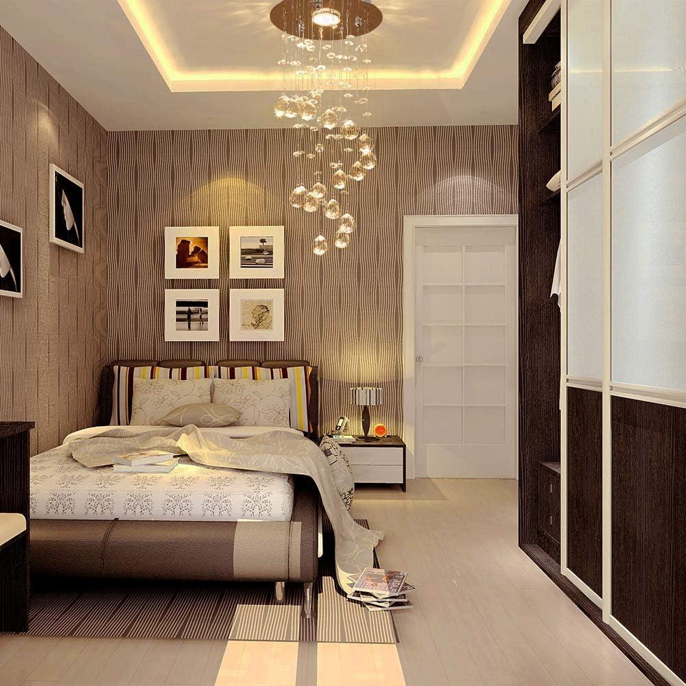 Crystal Raindrop Pendent Light Mini Chandeliers Ceiling Lamp Modern Ceililng Lighting fixtures Flush Mount LED Lamp for Living Room