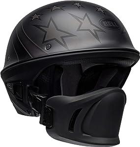 Bell Rogue Half-Size Motorcycle Helmet (Honor Matte Titanium/Black, Large)