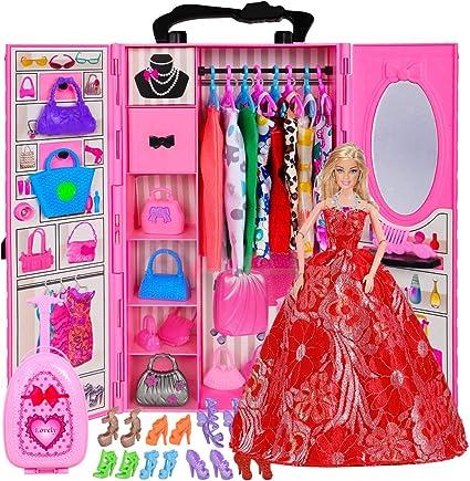 Doll Accessories Storage Bag Children Portable Cloth Handbag for 18inch Doll