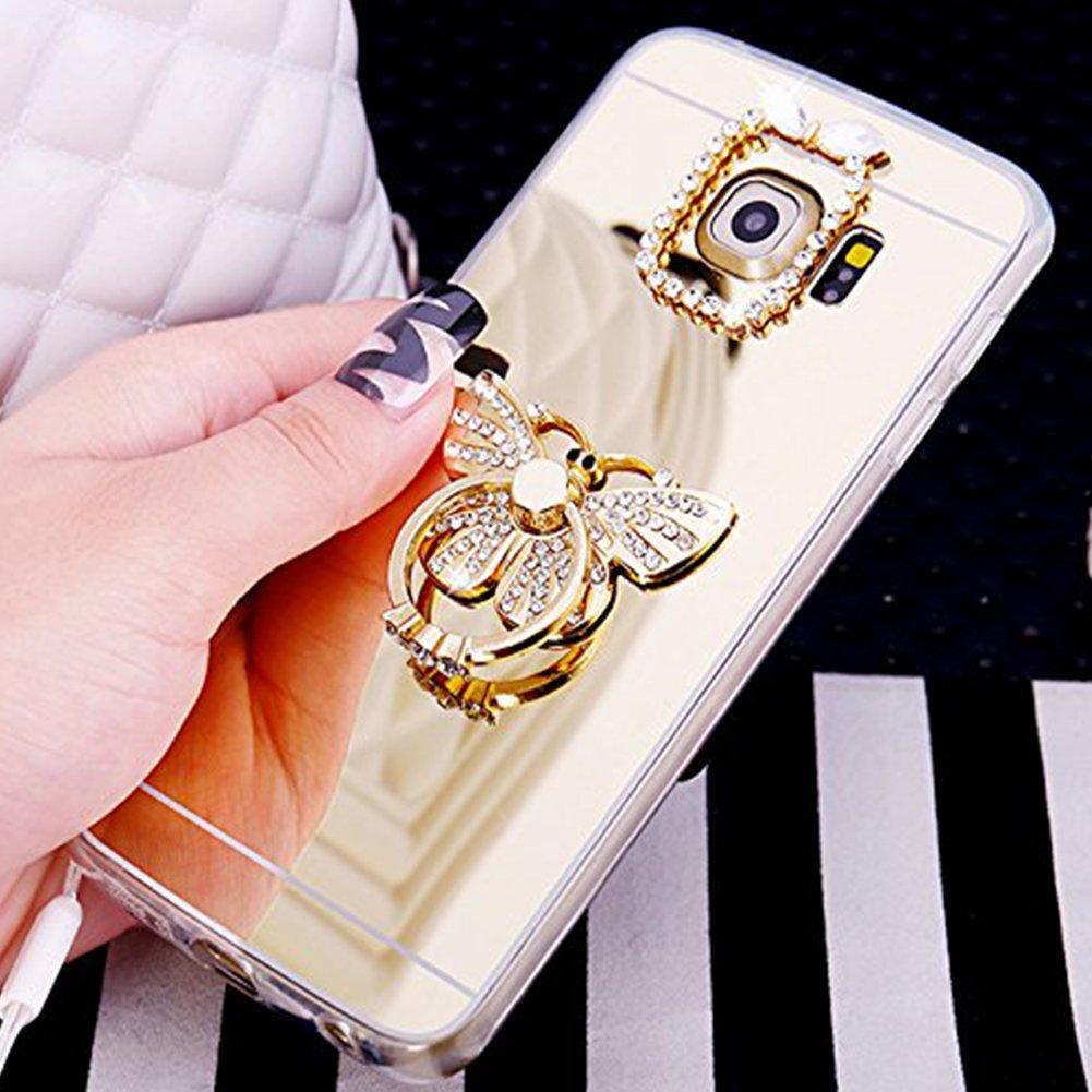 Custodia Cover Samsung Galaxy A5 2017 A520, Ukayfe Lusso Custodia per Samsung Galaxy A5 2017 A520 UltraSlim Specchio Copertura Cover Case Protettiva con Morbido TPU Placcatura design, Moda Serie Completa Screen-Protector, Skin Custodia Stilosa custodia Pro