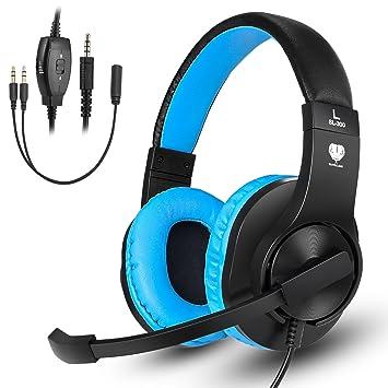 Samoleus Auriculares Cascos Gaming de Diadema con Micrófono de Cancelación de Ruido y 3,5mm