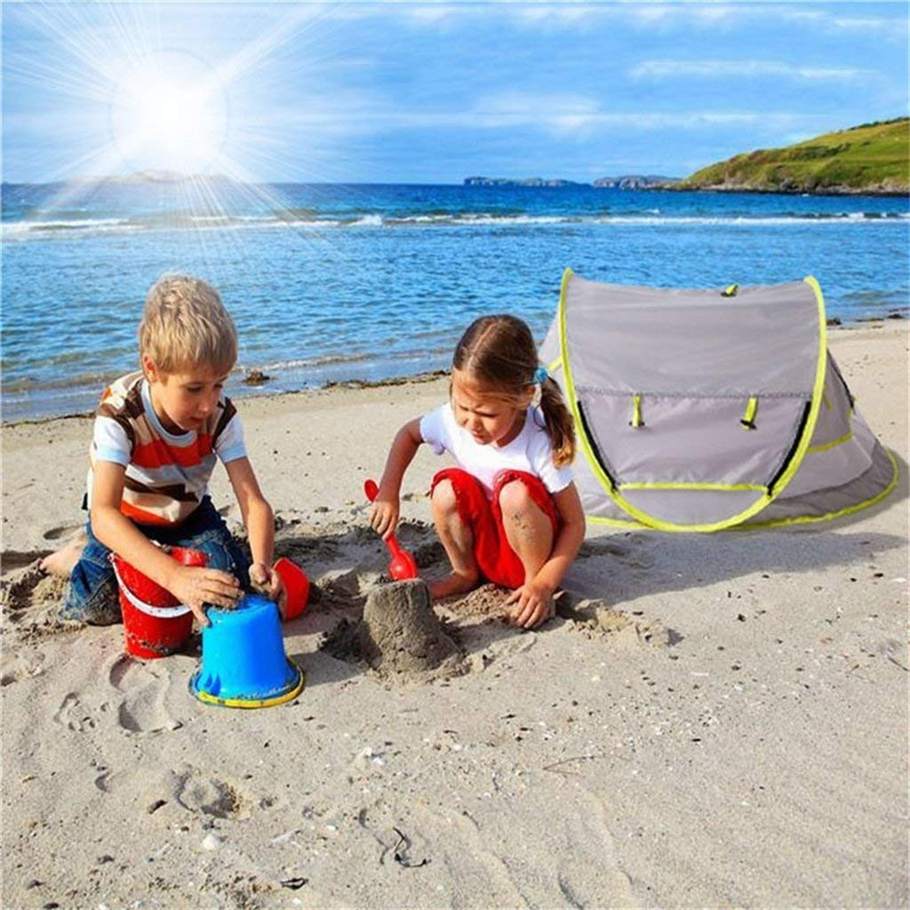 Cama port/átil de Viaje para ni/ños peque/ños Refugios de Sol para beb/és Pop Up Mosquito Net KAIMENG Carpa de Playa para beb/é UPF 50+