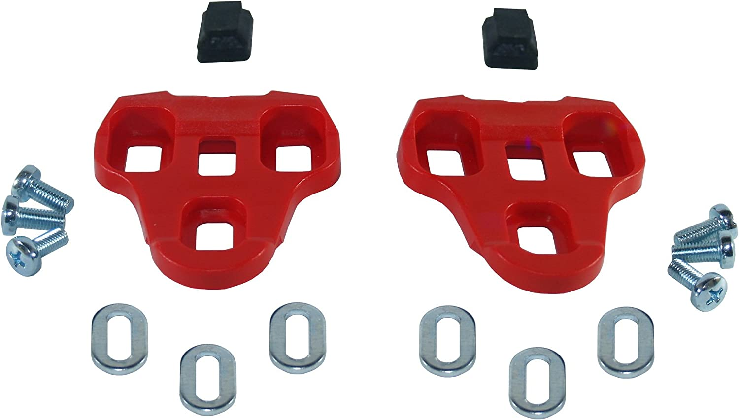 LOOK KEO Compatible Pedal Cleats for Road Bike PLASTIC RED GREY BLACK ROTO MTB