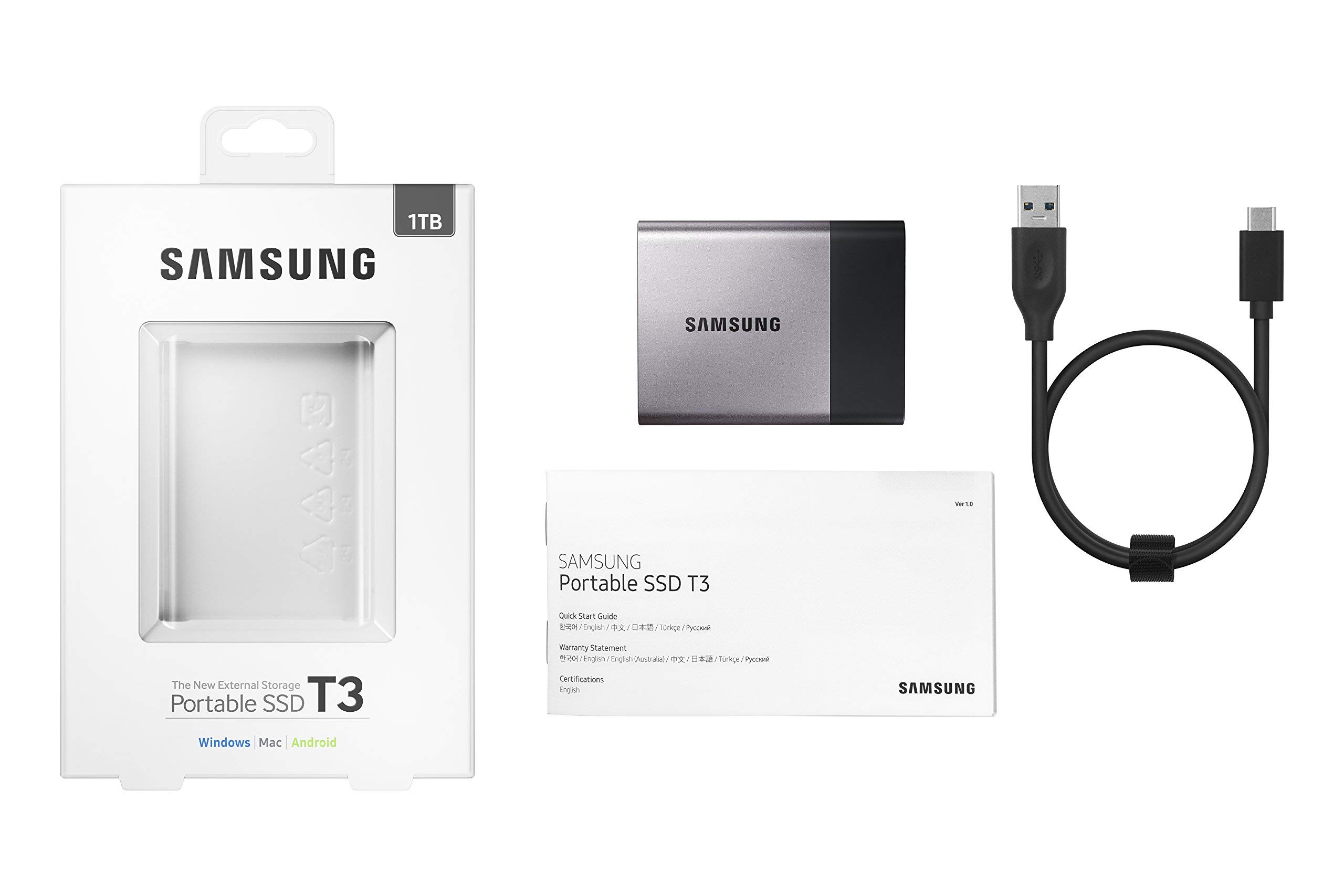 Samsung T3 Portable SSD - 1TB - USB 3.1 External SSD (MU-PT1T0B/AM) (Renewed) by Samsung (Image #5)