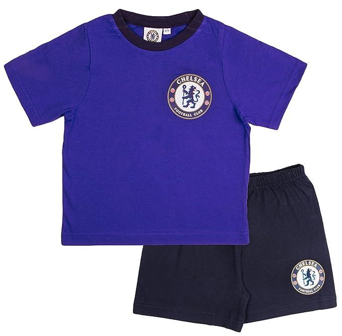 Chelsea F.C. - Pijama Dos Piezas - para niño Azul Azul X-Small: Amazon.es: Ropa y accesorios