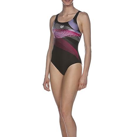 3b8640817938 Arena Viborg Badeanzug - Costume intero da donna, Nero - black/fresia rose,