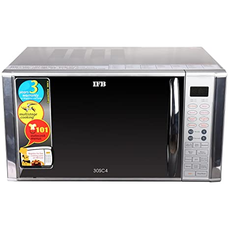 ifb 30 l convection microwave oven 30sc4 metallic silver amazon rh amazon in ifb microwave oven 25sc3 user manual ifb microwave oven 30sc3 user manual