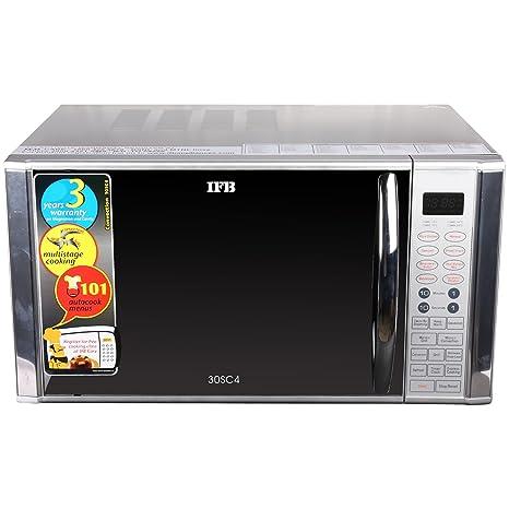 IFB 30 L Convection Microwave Oven (30SC4, Metallic Silver): Amazon ...