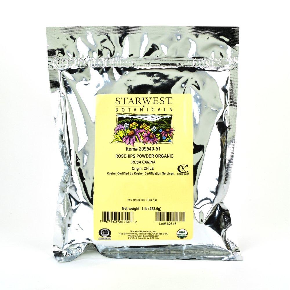 Starwest Botanicals Organic Rosehips Powder, 1 Pound