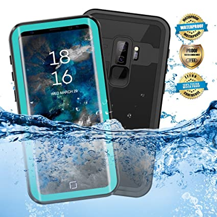 sale retailer 7a1b7 d9283 EFFUN Samsung Galaxy S9 Plus Waterproof Case, IP68 Certified Waterproof  Underwater Cover Dustproof Snowproof Shockproof Case with Phone Stand, PH  Test ...