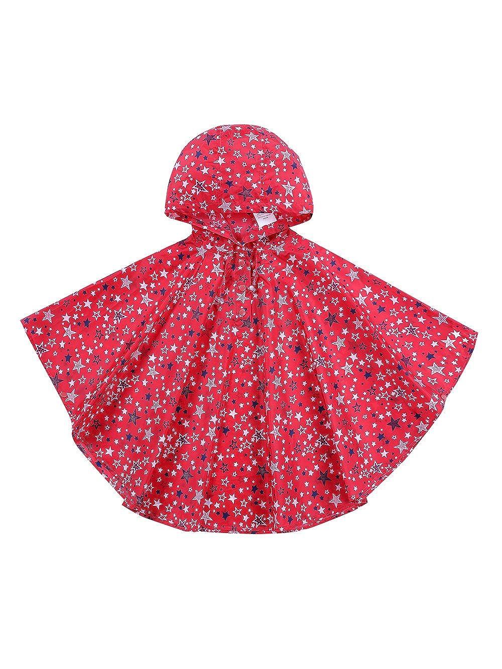 URBEAR Boys Girls Waterproof Raincoats Kids' Toddler Hooded School Backpack Lightweight Ponchos Jacket, S-XL B80603XX