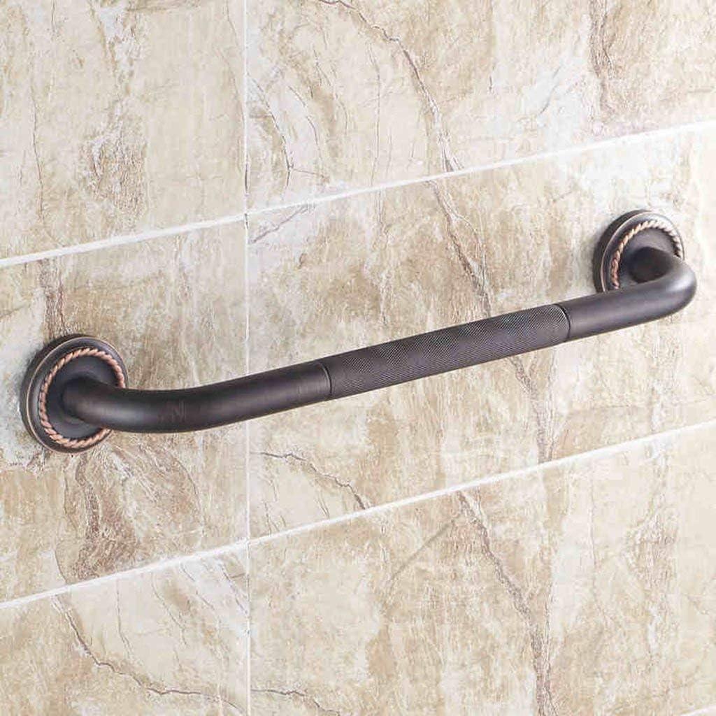 バスルーム滑り止め手すり、ヨーロッパスタイルのブラックオール銅製バスルームハンドル、安全トイレ滑り止め手すりYXDS