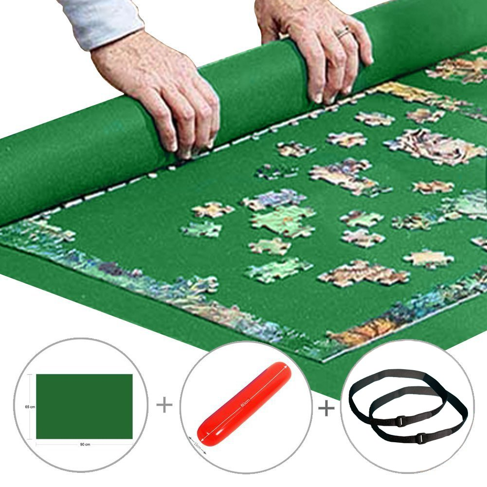 Yobooom Puzzle Mat Roll up Jigsaw Puzzle Pad Puzzle Storage Felt Mat Puzzles Saver 35.6 x 24.1 Fits up to 1000 Pieces