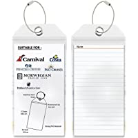 Cruise Tags 2/4/6/8 Pcs - PVC Luggage Tags with Zip Seal&Steel Loops for Cruise Ships