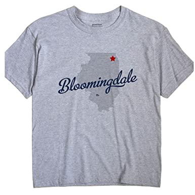 Amazon Com Greatcitees Bloomingdale Illinois Il Map Unisex Souvenir