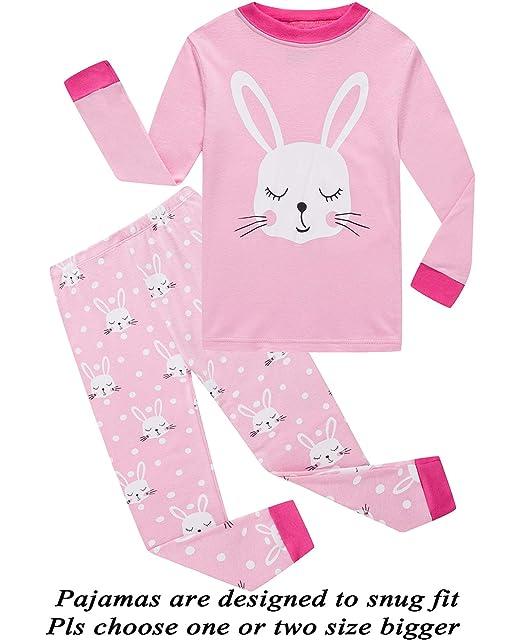 8a94d5cf4 Amazon.com  Little Pajamas Long Sleeve Girls Pjs Toddler Sleepwear ...