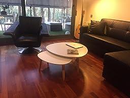 Mesas de centro nido Blanco/Blanco: Amazon.es: Hogar